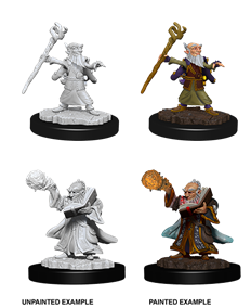 Dungeons & Dragons Nolzur's Marvelous Unpainted Miniatures: Male Gnome Wizard
