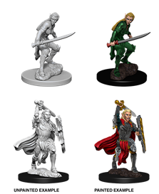 Dungeons & Dragons Nolzur's Marvelous Unpainted Miniatures: Female Elf Fighter