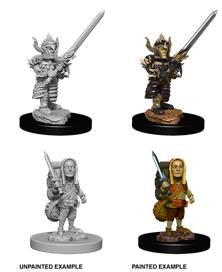 Dungeons & Dragons Nolzur's Marvelous Unpainted Miniatures: Male Halfling Fighter
