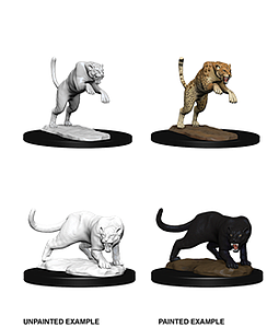 Dungeons & Dragons Nolzur's Marvelous Unpainted Miniatures: Panther & Leopard