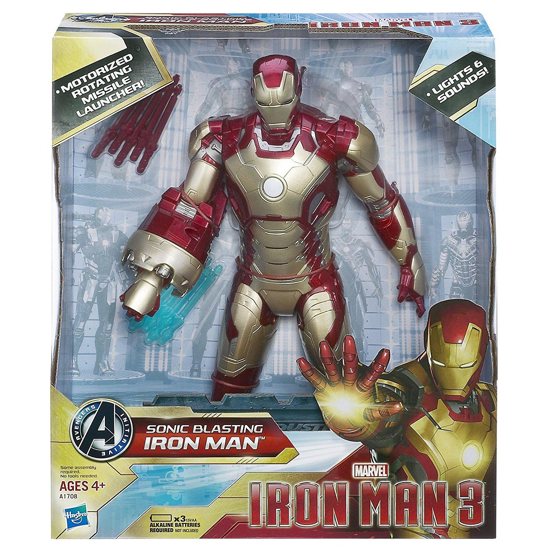 Iron Man 3 Toys ~ Iron man inch action figure sonic blasting