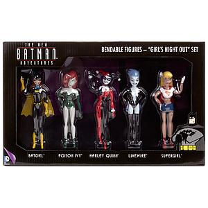 Batman the New Adventures Series 5-Pack Bendable Figures Girl's Night Out Set