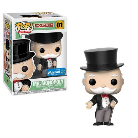 Pop! Board Games Monopoly Vinyl Figure Mr. Monopoly #01 Walmart Exclusive