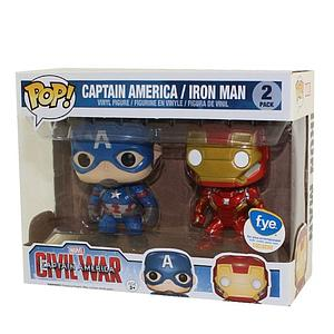 Pop! Marvel Captain America Civil War Vinyl Figure 2-Pack Captain America & Iron Man FYE Exclusive