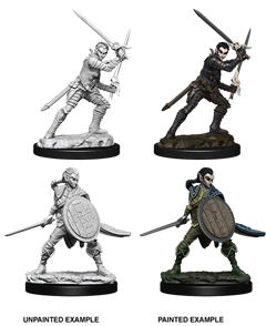 Pathfinder Deep Cuts Unpainted Miniatures: Female Elf Fighter