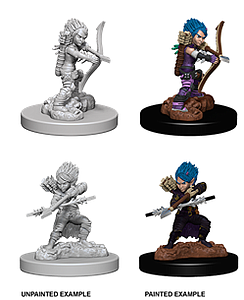 Pathfinder Deep Cuts Unpainted Miniatures: Female Gnome Rogue