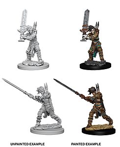 Pathfinder Deep Cuts Unpainted Miniatures: Female Human Barbarian