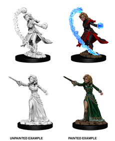 Pathfinder Deep Cuts Unpainted Miniatures: Female Human Wizard