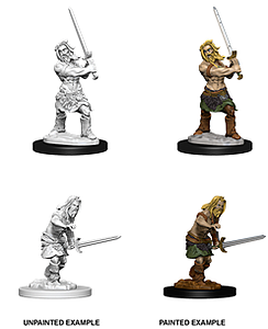 Pathfinder Deep Cuts Unpainted Miniatures: Human Male Barbarian