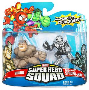 "Marvel Super Hero Squad 2"" 2-Pack: Rhino & Spider-Man"