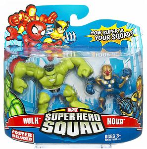 "Marvel Super Hero Squad 2"" 2-Pack: Hulk & Nova"