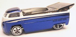Hot Wheels Classics Series 2 Die-Cast: Customized VW Drag Truck (Blue)
