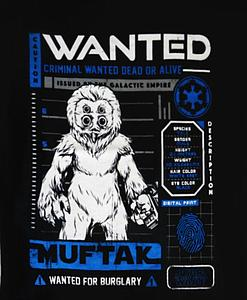 Pop! Tees Star Wars Muftak (Wanted) Tee (Black T-Shirt) (L) Smuggler's Bounty Exclusive