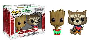 Pop! Bobblers Guardians of the Galaxy Vinyl Bobble-Heads 2-Pack Rocket and Groot Marvel Collector Corps Exclusive
