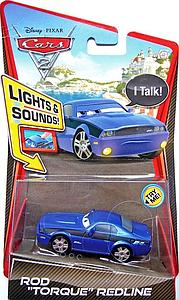 "Mattel Disney Cars Die-Cast 1:55 Scale Lights & Sounds Toy: Rod ""Torque"" Redline"