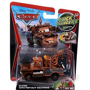 Mattel Disney Cars Die-Cast 1:55 Scale Quick Changers Toy: Mater w/ Pop Out Weapons