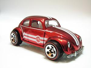 Hot Wheels Classics Series 1 Cars Die-Cast: VW Bug (Red)
