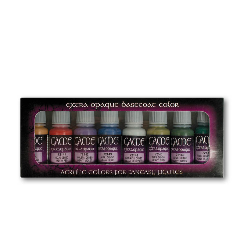8 Game Color Set - Extra Opaque Basecoat Color (72.294)