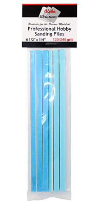 "1/4"" Professional Sanding Files 120/240 grit (#0309)"