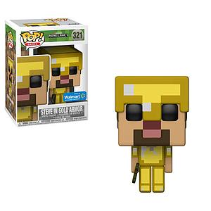 Pop! Games Minecraft Vinyl Figure Steve in Gold Armor #321 Walmart Exclusive