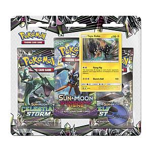 Pokemon Trading Card Game: Sun & Moon #7 3-Pack Blister