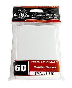 Premium Small-Size Card Sleeves: White (60 Pack)