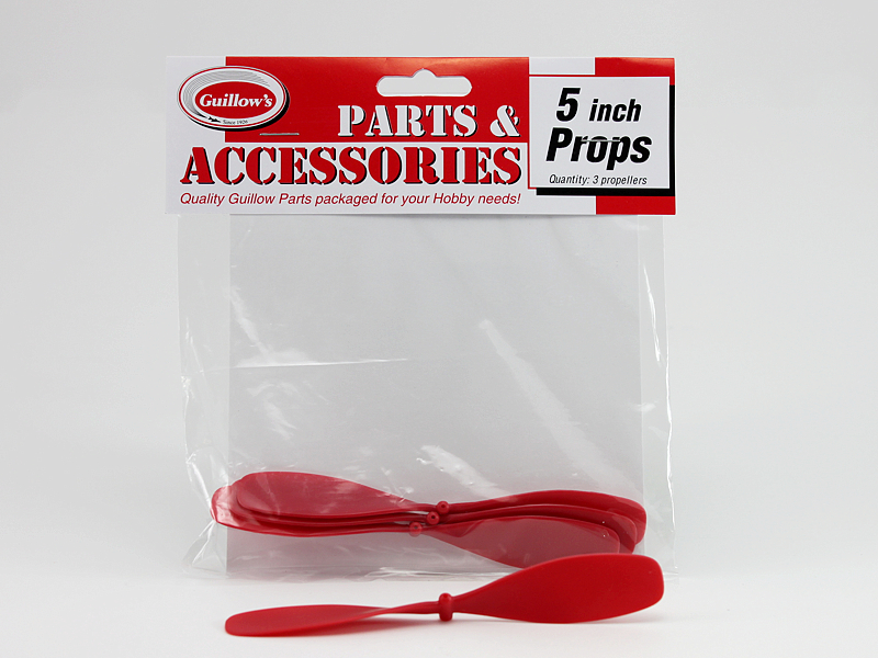 "5"" Red Plastic Propellers (117)"