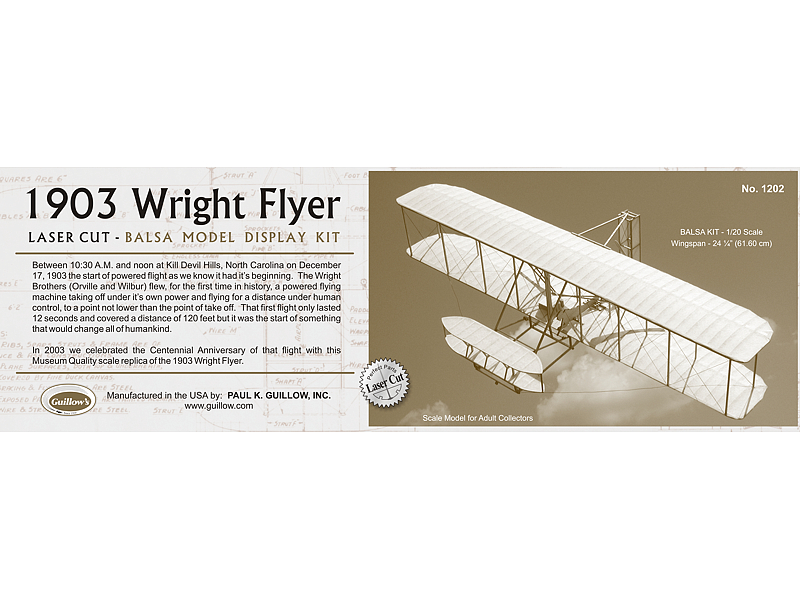 1903 Wright Flyer 1/20 Scale (1202)