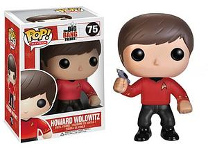 Pop! Television The Big Bang Theory Vinyl Figure Howard Wolowitz (Star Trek) #75 (Retired)