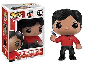 Pop! Television The Big Bang Theory Vinyl Figure Raj Koothrappali (Star Trek) #76 (Vaulted)