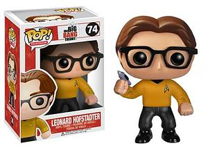 Pop! Television The Big Bang Theory Vinyl Figure Leonard Hofstadter (Star Trek) #74 (Vaulted)
