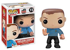 Pop! Television The Big Bang Theory Vinyl Figure Sheldon Cooper (Star Trek) #73 (Vaulted)