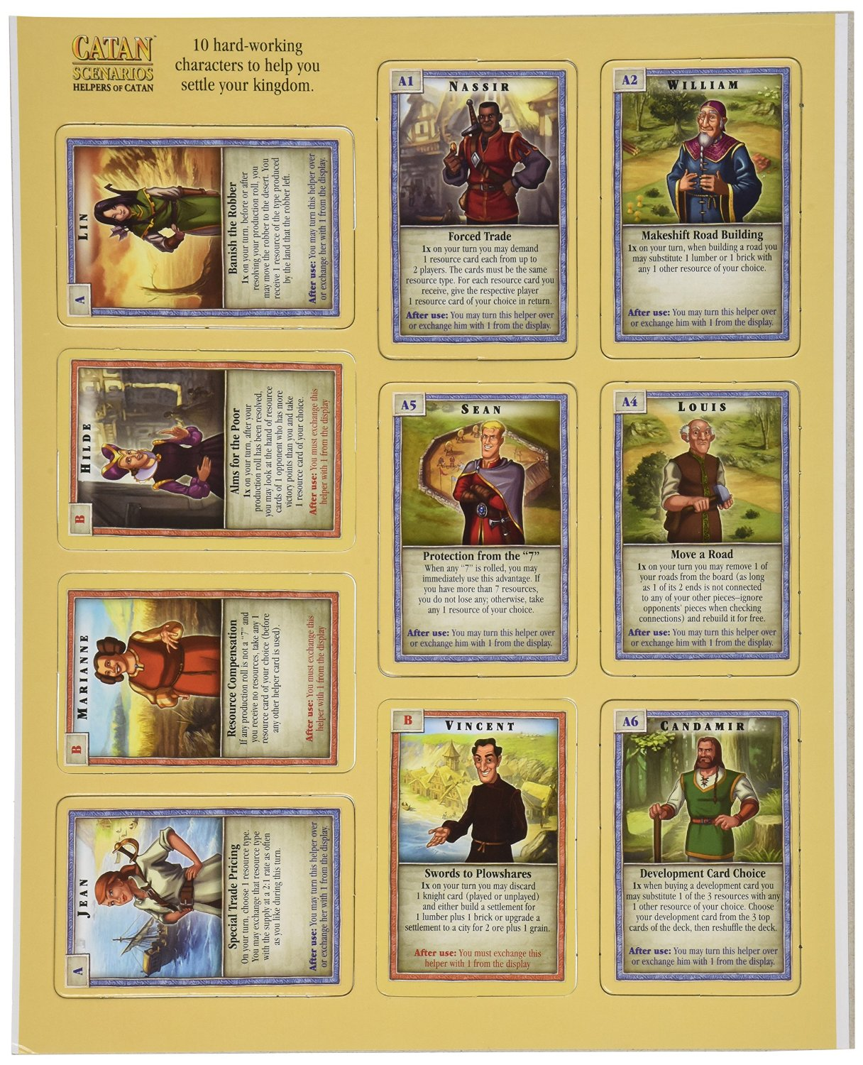 photograph relating to Settlers of Catan Printable known as Catan Circumstances: Helpers of Catan