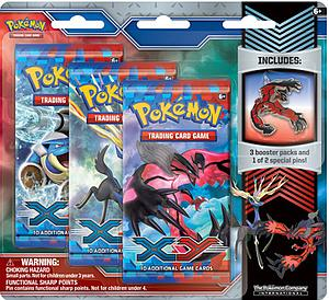 Pokemon Trading Card Game: XY 3-Packs Blister with Collector's Pin Yveltal