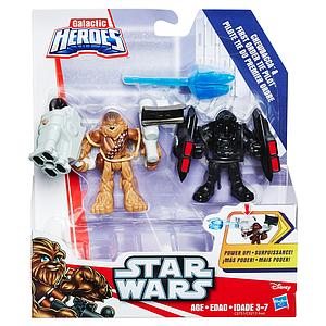 Star Wars Galactic Heroes Mini Figure 2-Pack Chewbacca & First Order Tie Pilot