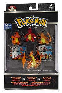 TOMY Pokemon Trainer's Choice 4-Pack Charmander, Charmeleon, Charizard & Mega Charizard Y