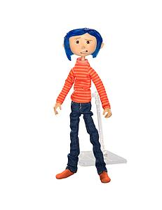 Coraline in Striped Shirt and Jeans