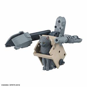 Neko Busou Plastic Model Kit: Nami Mori Grey Cat with Launcher Mecha (A)