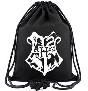 Harry Potter Drawstring Backpack Hogwarts Logo