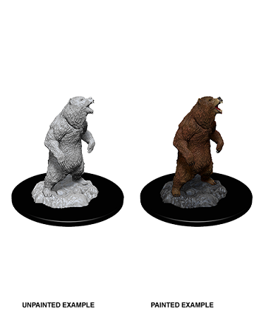 Deep Cuts Unpainted Miniatures: Grizzly (Bear)