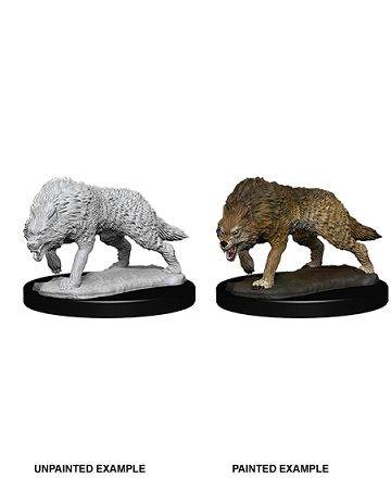 Deep Cuts Unpainted Miniatures: Timber Wolf