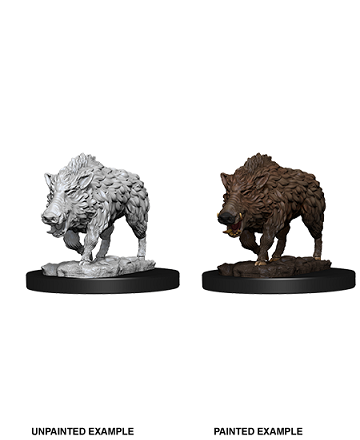 Deep Cuts Unpainted Miniatures: Wild Boar