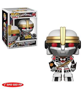 "Pop! Television Power Rangers Vinyl Figure 6"" White Tigerzord #668 Hot Topic Exclusive"