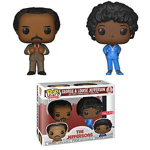 Pop! Television The Jeffersons Vinyl Figure George & Louise Jefferson (2-Pack) Target Exclusive