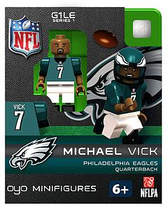 NFL Football Minifigures: Michael Vick (Philadelphia Eagles)