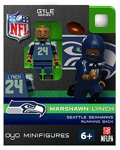 NFL Football Minifigures: Marshawn Lynch (Seattle Seahawks)