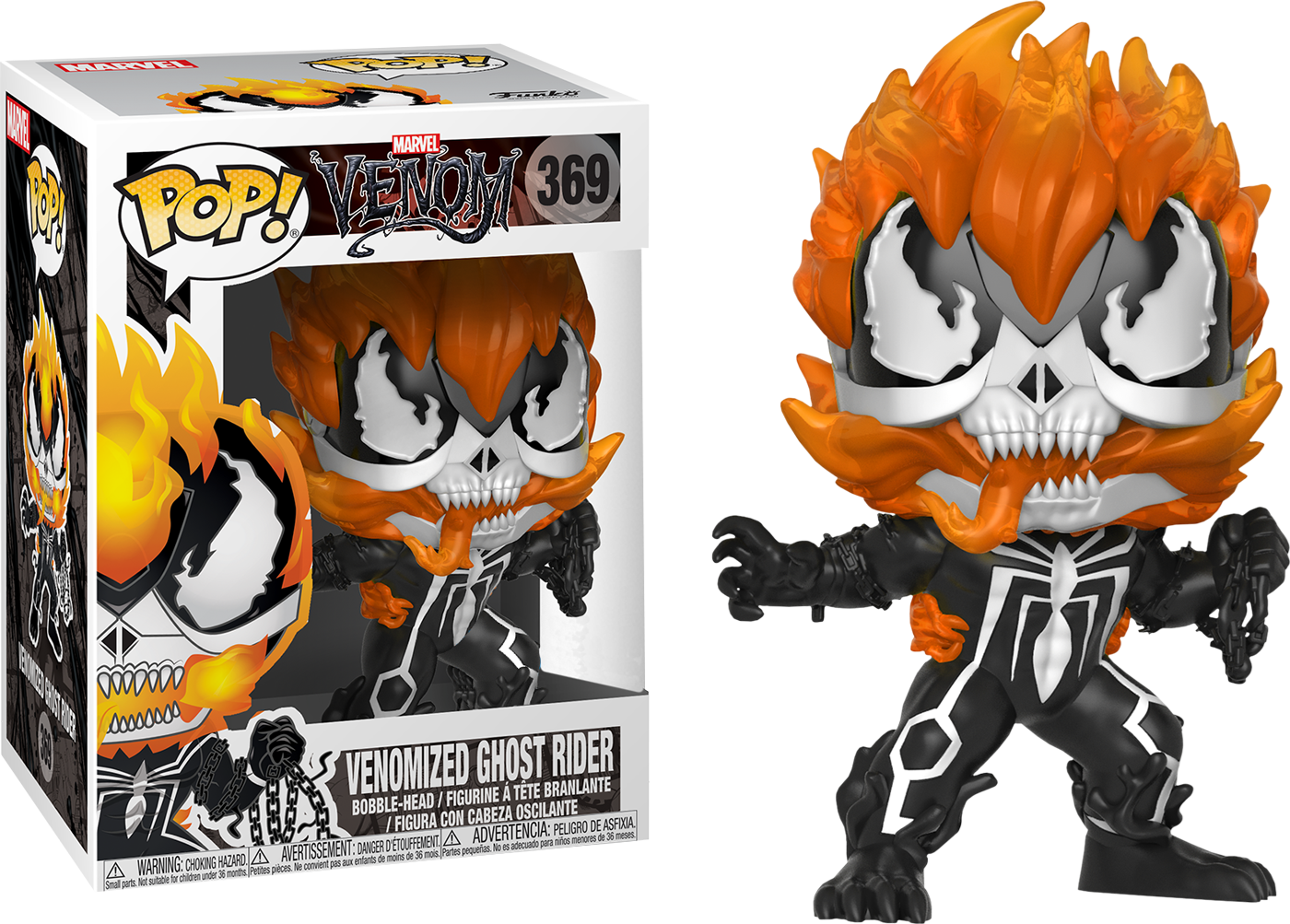 Marvel venom vinyl bobble head venomized ghost rider 369 exclusive no sticker www toysonfire ca
