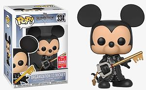Pop! Disney Kingdom Hearts Vinyl Figure Organization 13 Mickey (Unhooded) #334 2018 Summer Convention Exclusive