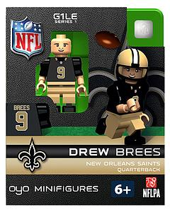 NFL Football Minifigures: Drew Brees (New Orleans Saints)