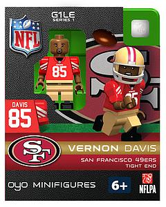 NFL Football Minifigures: Vernon Davis (San Francisco 49ers)